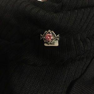 Torrid Art Deco pink ring size 11