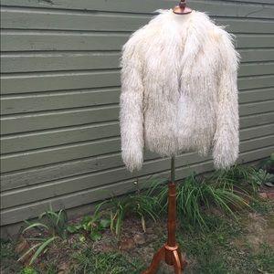 Tibetan lamb wool fur coat