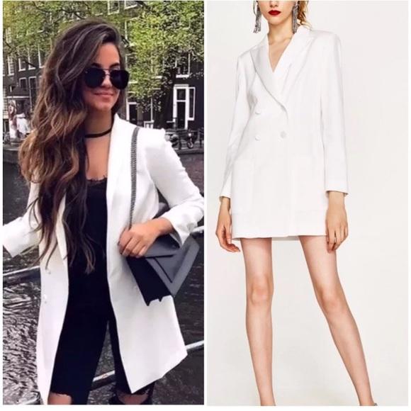 4c9c89b6946 NWT Zara Long Double Breasted Jacket