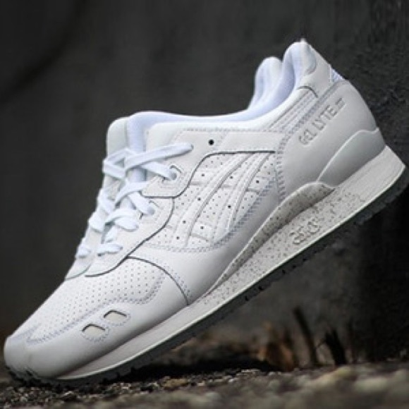 new concept bb5e7 b0f47 New Asics Gel Lyte III Grand Leather White RARE NWT