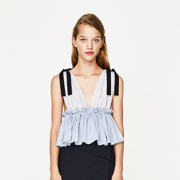 cdd599c49fd Zara striped top