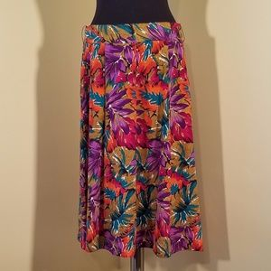 Bright Colorful Midi-length Skirt, 14