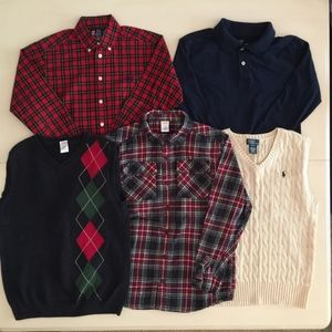 Mixed lot of Boys 10-12 shirts and sweater vests
