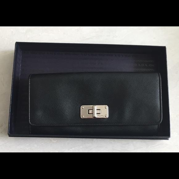 ea1aeecd4832 Prada black leather wristlet clutch. New In box. M_59ab5a394127d0210b03abc8