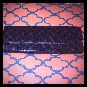 GAP black patent leather clutch