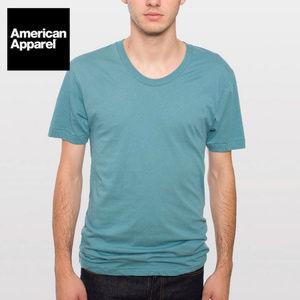 AMERICAN APPAREL Blank Short Sleeve Crew Neck Tee