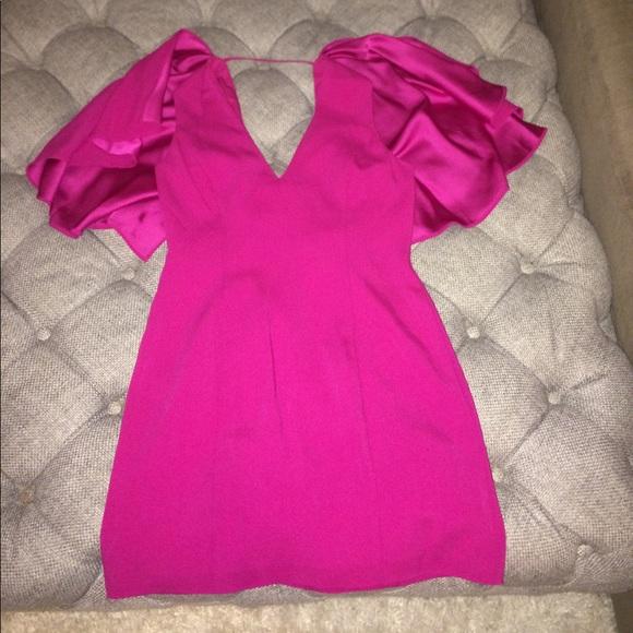 Intermix Dresses - Intermix fuchsia cape dress