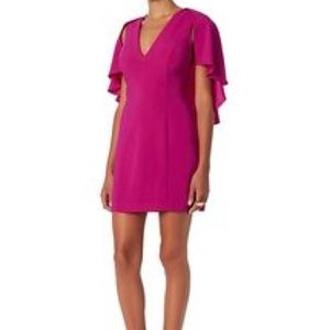 Intermix fuchsia cape dress