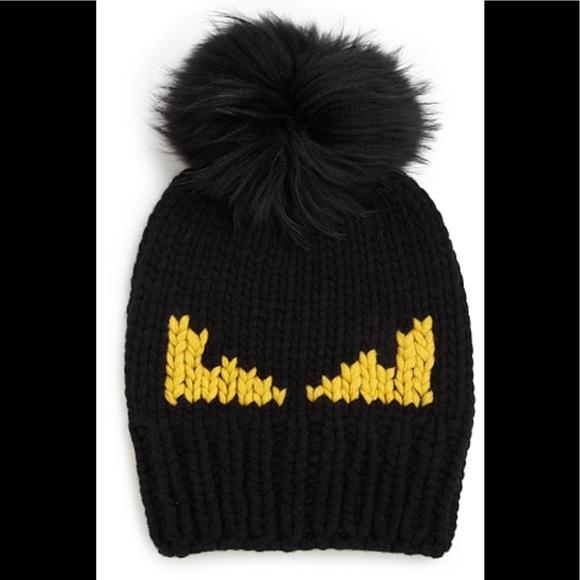 FENDI Monster Fur Pom Beanie Hat. M 59ab6b16c284563774043147 8a9aeb8e8f6
