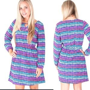 Colorful bell sleeve dress
