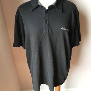 4/$25 Sale Columbia Men's Black Polo Shirt Sz M