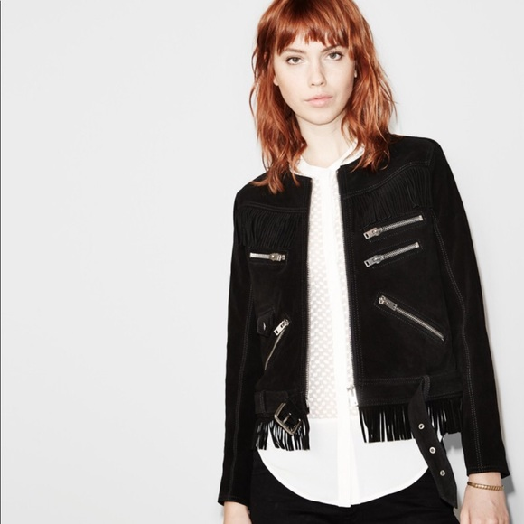 0f533cbc3e The Kooples Jackets & Coats | Suede Fringe Moto Jacket | Poshmark