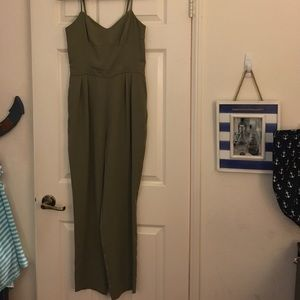 JLO army green jumpsuit