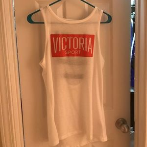 Sport tank with open back