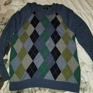 Haggar sweaters XXL/XXG Blue and Brown Used