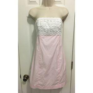 Lilly Pulitzer size 2 pink & white dress 