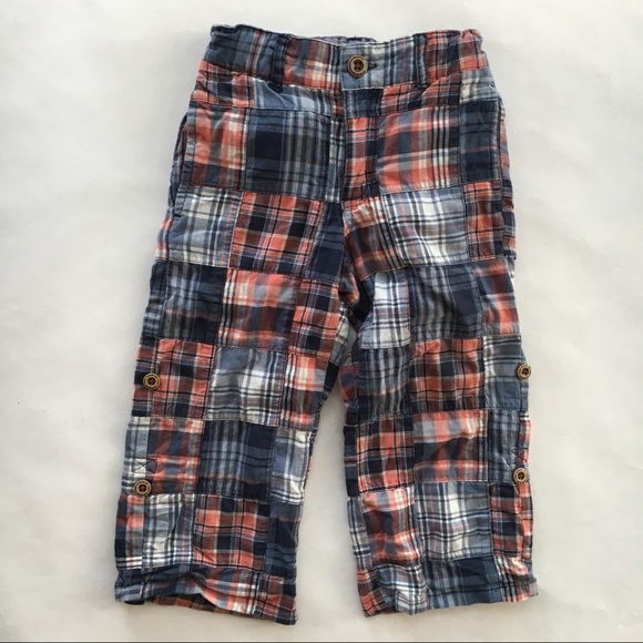 534ed6163 Janie and Jack Other - Janie and Jack blue plaid roll tab boy pants 2T