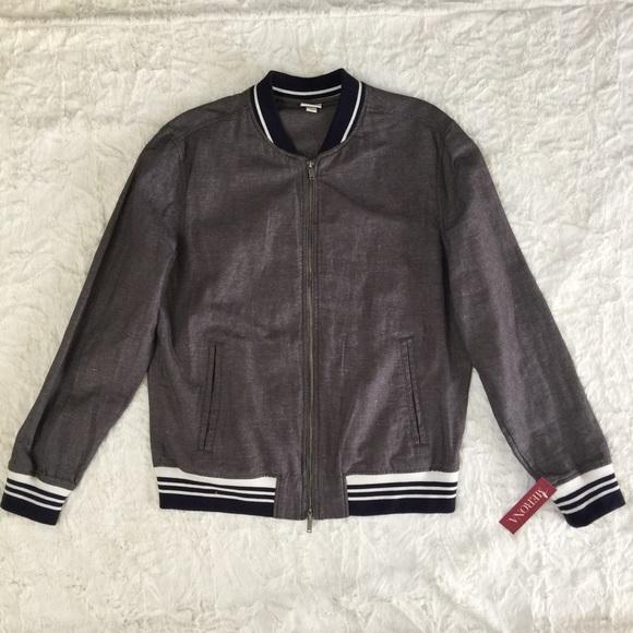 2b159bed4c7 Dark Gary Cotton Linen bomber Jacket