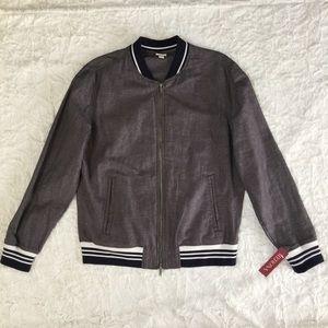 3fa3e6c75bc Merona Jackets   Coats - Dark Gary Cotton Linen bomber Jacket