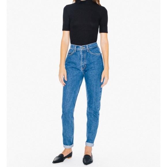 63167dddfb2445 American Apparel Denim - High-Waist Jean