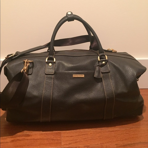 eb36a2c0cf Brooks Brothers Other - Brooks Brothers Leather Duffle Bag w/ Wheels