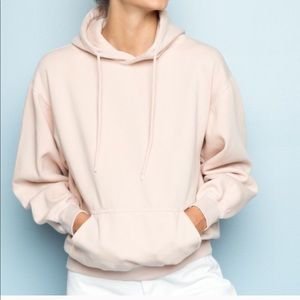 Brandy Melville pink Christy hoodie