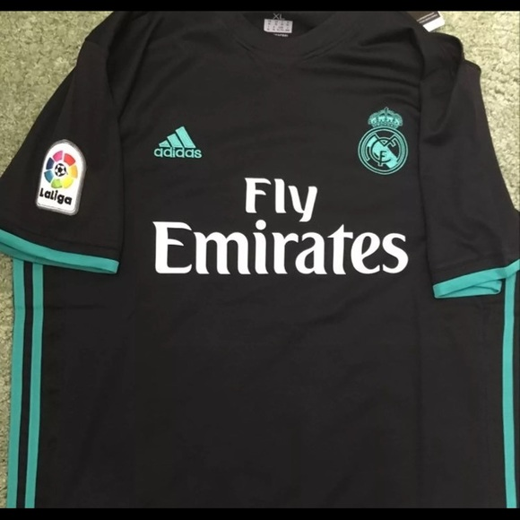 newest 133b5 321aa Ronaldo Real Madrid Black Jersey New
