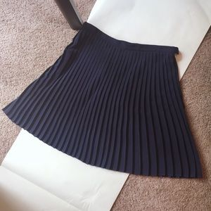 Asos navy pleated skirt