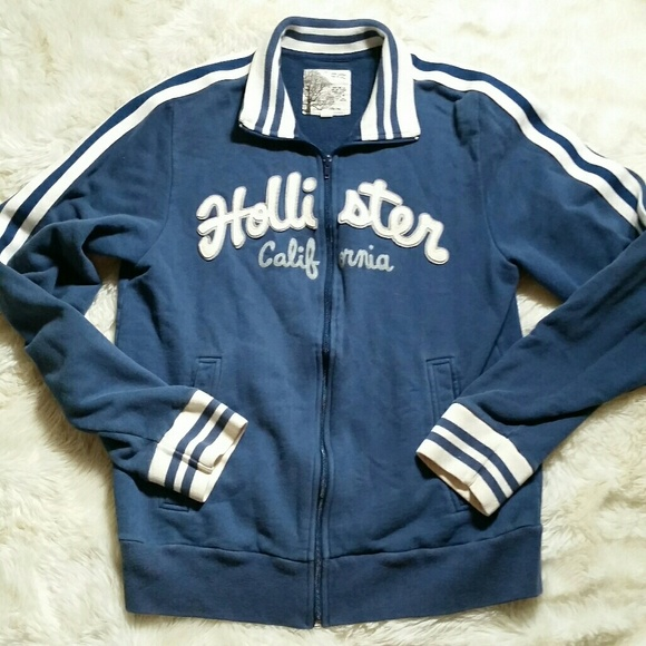 2fbcbaafc Hollister Sweaters   Mens Zip Track Jacket Sweatshirt Medium   Poshmark
