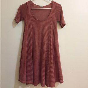 Ecote Ribbed short sleeve dress