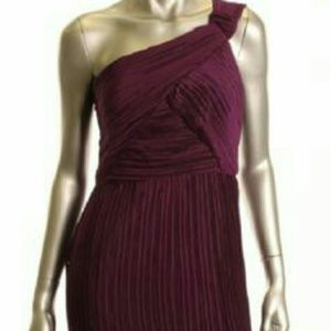 Nwt - Nine West Purple one shoulder Midi Dress