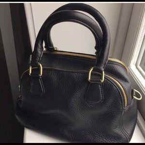JCREW 2 handle satchel with detachable strap