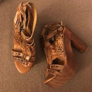 cf2e0bfceae Bed Stu Shoes - Bed Stu Cindy Leather Platform Heeled Sandal