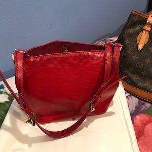 Authentic Louis Vuitton Mandera Red Bag