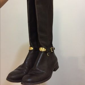 Micheal Kors Arley Leather Riding Boots