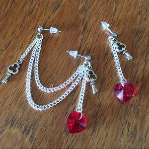 Key to my Heart Double Piercing Earrings