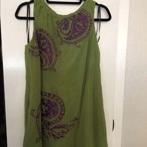 Forever 21 Twelve by Twelve Green & Purple Dress
