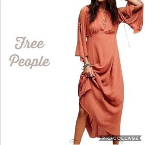 Free People Prettiest Thing Midi Dress NWT XS Clay