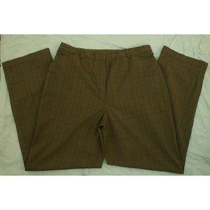 Sag Harbor Brown plaid trousers size 12