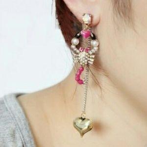 Betsey Johnson Flights of Fancy Scorpion earrings