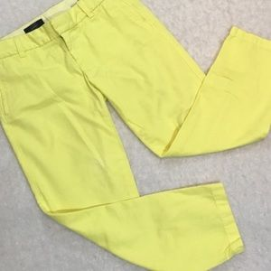 J.Crew scout chinos yellow size 4 style #31333