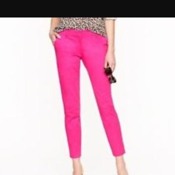 5fc524248634 J. Crew Pants   Jcrew Cafe Capri Size 4 Hot Pink Style 57064   Poshmark