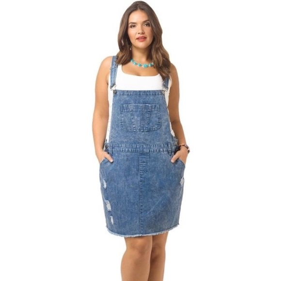 767d008293d6 City Chic Dresses   Skirts - City chic overall denim skirt romper