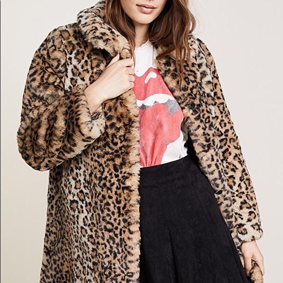 5eeae79d5072 Alice + Olivia Jackets & Coats | Kinsley Fauxfur Oversized Long Coat ...