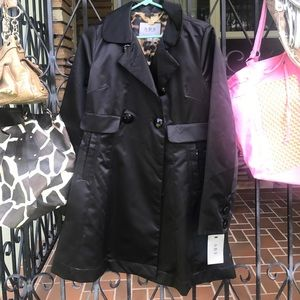 ABS Black Short Evening Trench Size Small