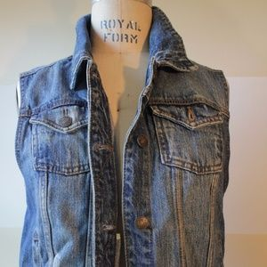 Forever 21 Distress Denim Vest