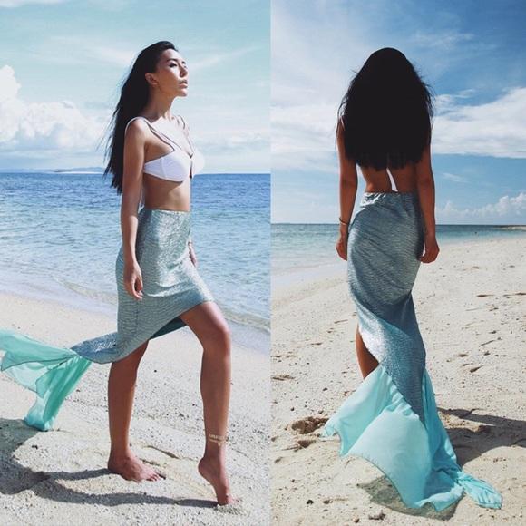 c9a1881f5d Fancy High-low Blue Mermaid Tail Beach Cover Up. M_59ac11ffa88e7dc4cc05ce9c
