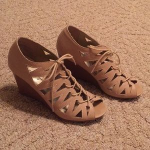 Rampage Lace Up Wedge