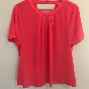 J. CREW Silk hot pink blouse