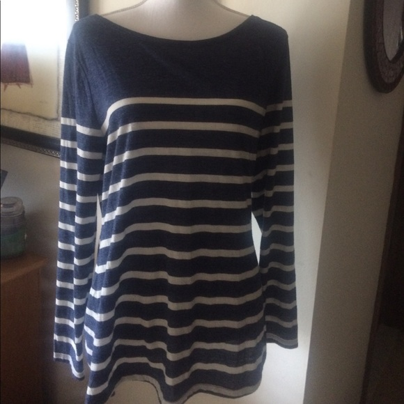 f637f355f3a99e Old Navy Tops | Womens Blue White Striped Long Sleeve Top | Poshmark
